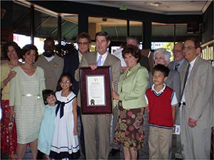 Bright Star Family receving award for 100 year Anniversary from Govenor Bob Riley in 2007